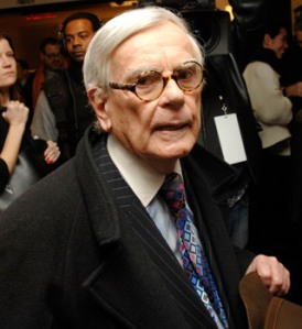Dominick Dunne at work -- or at a party, which was much the same thing
