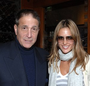 Michael Viner with model Alessandra Ambrosia in 2008.